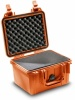Case colour: Orange,  Case interior: With cubed foam