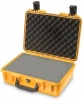 Case colour: Yellow,  Case interior: With cubed foam