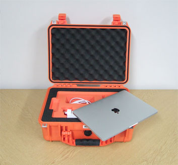 custom foam in a Peli case