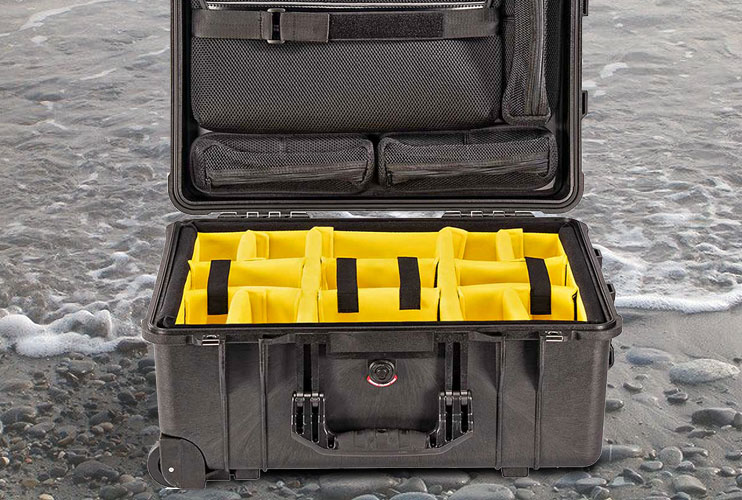 Peli 1560 and 1560SC Case with New Yellow Dividers
