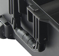 a close up of a peli air 1615 cases Rubber Overmoulded Handle