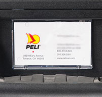 a close up of a peli air 1615 cases Removable Card Holder with Front or Side Placement