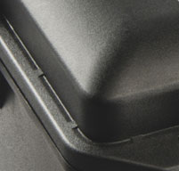 a close up of a peli air 1615 cases New Style 'Conic Curve' Lid Shape