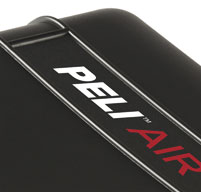 a close up of a peli air 1615 case Super-light Proprietary HPX2 Polymer