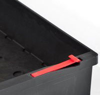 close up of an explorer 5140 tool cases self restrain stop system