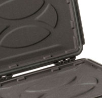 close up of the molded-in foam insert of the Peli 1070cc laptop case