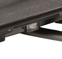 close up shot of the black Peli 1070cc laptop case pressure relief valve