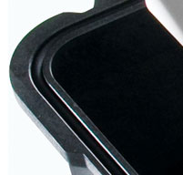 Close up of black peli case o'ring seal