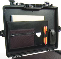 a close up of a peli 1495cc2 laptop cases lid organiser