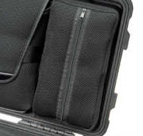 a close up of a Peli 1510LOC Laptop Overnight Cases accessories pouch