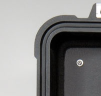 a close up of a Peli 1510LOC Laptop Overnight Cases O-ring seal