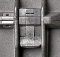 a close up of a peli 1610m mobility cases Easy open double throw latches