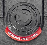 close up of Peli 1610 Case Automatic pressure equalisation valve