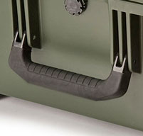 a close up of a peli IM2620 Storm case Double-layered, Soft-grip Handle